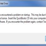 Quickbooks Licence error 2