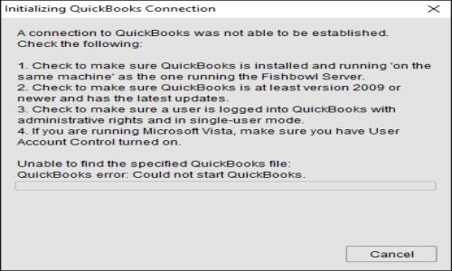 Quickbooks connectivity error