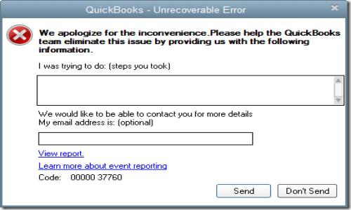Quickbooks crashed