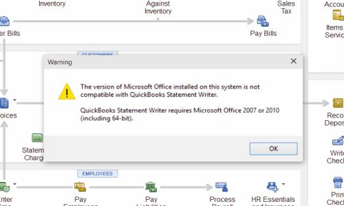 Quickbooks document error